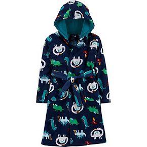 Boys 6-12 Carter's Animal Hooded Fleece Robe