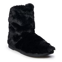 Deals on SONOMA Goods for Life Womens Faux Fur Slouch Bootie Slippers