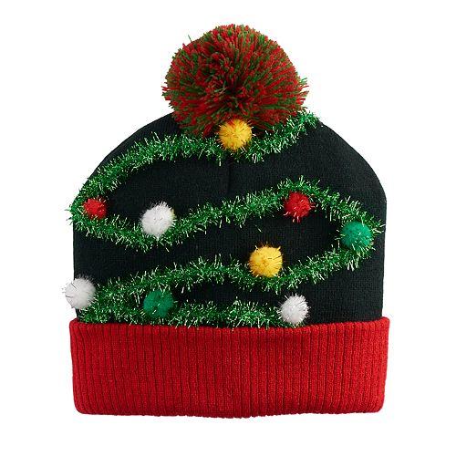 Men's Christmas Tree Garland Beanie