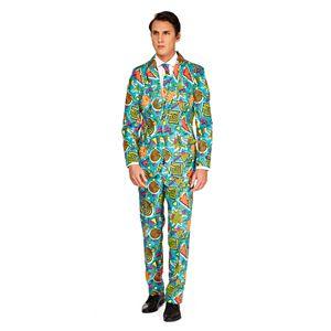 Men's Suitmeister Slim-Fit Novelty Pattern Suit & Tie Set