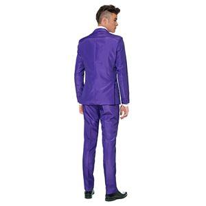 Men's Suitmeister Slim-Fit Solid Suit & Tie Set