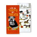 Celebrate Halloween Together Tricks for Treats Kitchen Towel 2-pk.