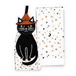 Celebrate Halloween Together Black Cat Tie-Top Kitchen Towel 2-pk.