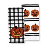 Celebrate Halloween Together Gingham Pumpkin Kitchen Towel 2-pk.