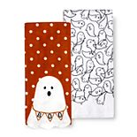 Celebrate Halloween Together Boo Ghost Kitchen Towel 2-pk.