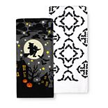 Celebrate Halloween Together Witch Silhouette Kitchen Towel 2-pk.