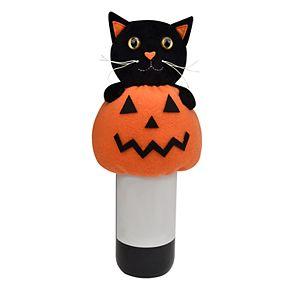 Celebrate Halloween Together Black Cat Wine Bottle Cover