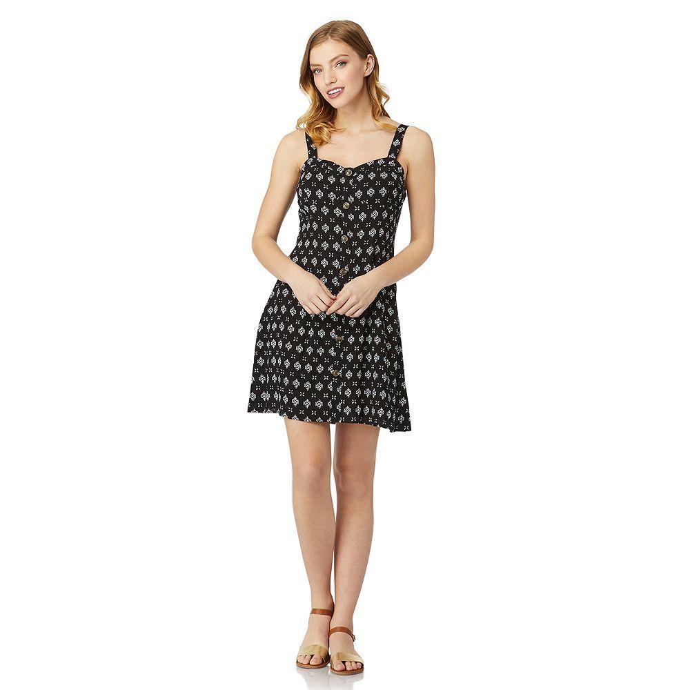 Juniors' WallFlower Faux Button Front Dress