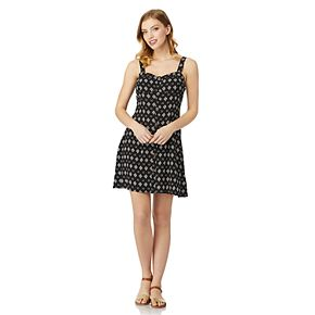Juniors' WallFlower Faux Button Front Dress