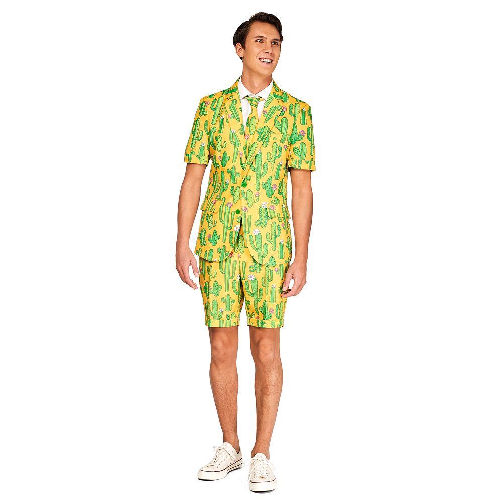 Men's Suitmeister Sunny Cactus Summer Suit & Tie Set