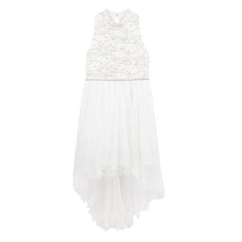 Girls' Speechless Sleeveless High-Low White Dress