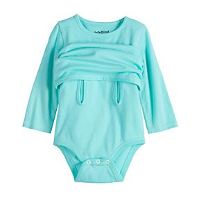 Baby Girl Jumping Beans® Adaptive Long-Sleeve Mock-Layer Bodysuit