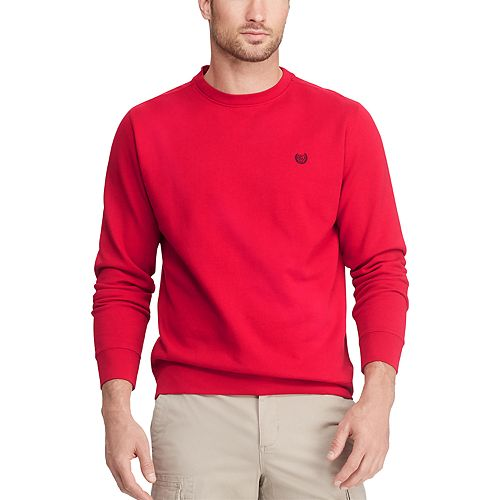 Men's Chaps Classic-Fit Solid Crewneck Fleece Pullover