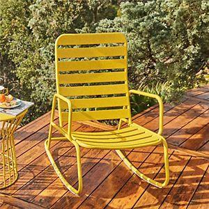 Novogratz Poolside Gossip Collection Roberta Outdoor Rocking Chair