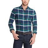 Men's Chaps Slim-Fit Performance Flannel Button-Down Shirt