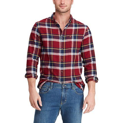 Men's Chaps Slim-Fit Performance Flannel Button-Down Shirt