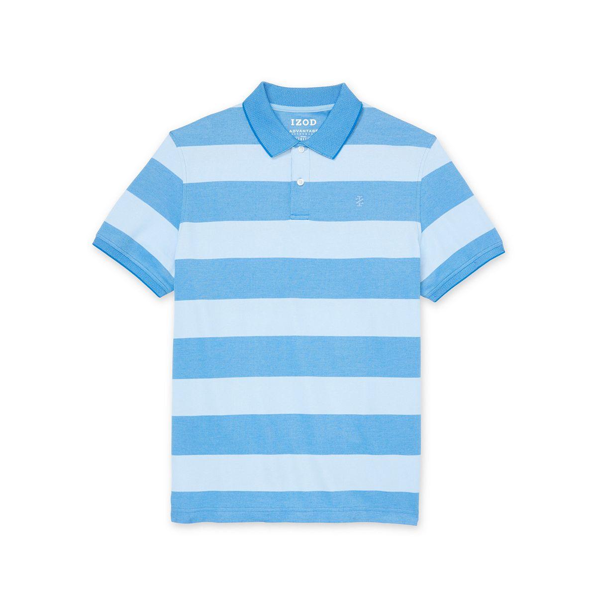 Men's IZOD Sportswear Advantage Classic-Fit Striped Performance Polo Meadow ZVuk5