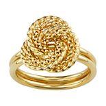 10k Gold Love Knot Braid Ring