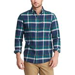 Men's Chaps Classic-Fit Untucked Performance Flannel Button-Down Shirt