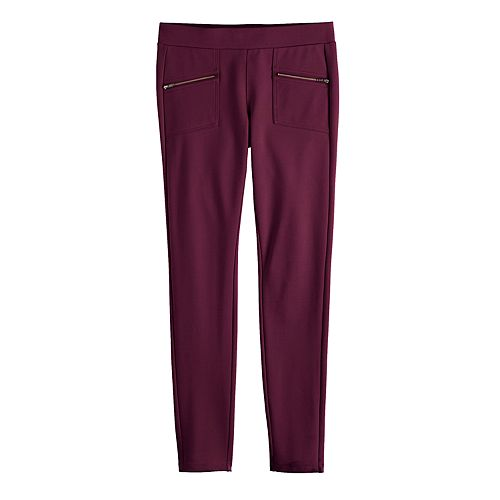 Girls 7-16 & Plus Size SO® Zipper Pull-on Ponte Pants