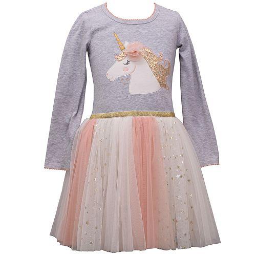 Girls 4-6x Bonnie Jean Unicorn Tulle Dress