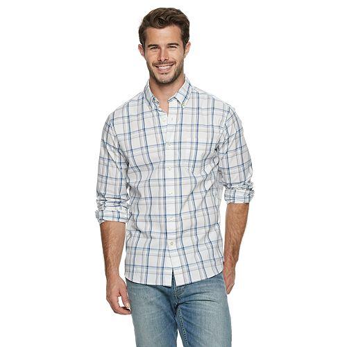 Big & Tall SONOMA Goods for Life™ Flexwear Poplin Button-Down Shirt