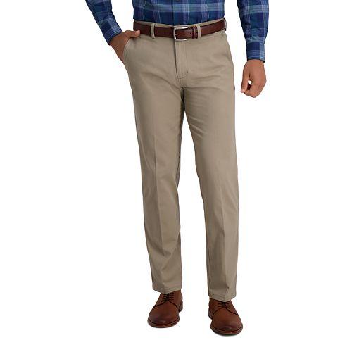 New Men/'s Croft /& Barrow Khakis Classic Fit Flat Front Pants Beige Khaki $54 NWT
