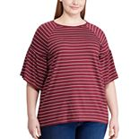 Plus Size Chaps Flutter Sleeve Tee
