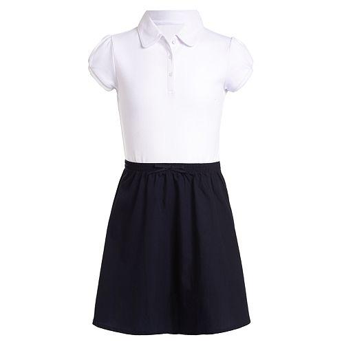 Girls' Chaps 7-16 2fer Poplin Dress