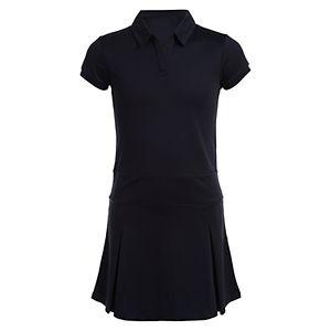 Girls' Chaps Plus Pleated Performance Dress