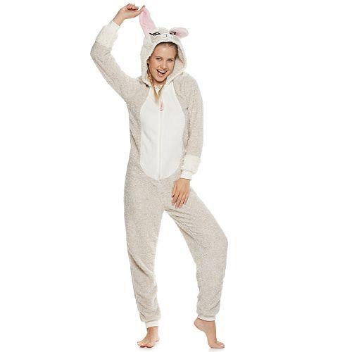 Juniors' Peace, Love & Dreams Llama One-Piece Pajamas