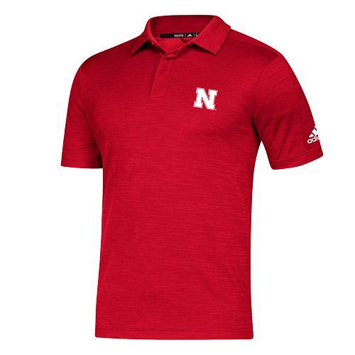 Large Scarlet Champion NCAA Nebraska Cornhuskers Solid Polo