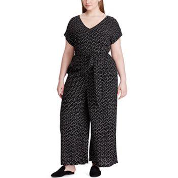 Plus Size Chaps V-Neck Jumpsuit