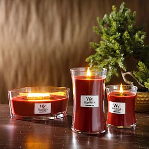 WoodWick Cinnamon Chai Medium Hourglass Candle