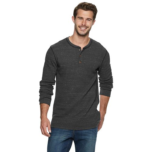 Men's SONOMA Goods for Life™ Supersoft Slim-Fit Thermal Henley