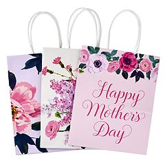 Hallmark Medium Gift Bags Assortment, Florals (Mother's Day, Birthdays, Weddings, Bridal Showers, All Occasion)