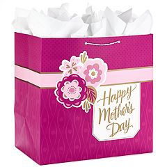 Hallmark Heavy Duty Mother's Day Gift Bag for Appliances or Oversized Gifts (Pink)