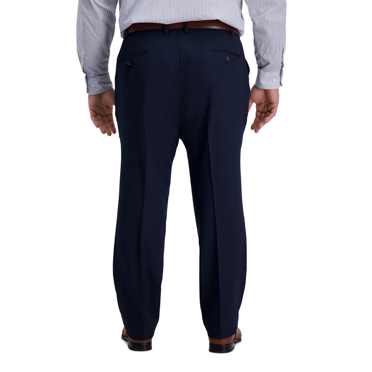 Big & Tall Haggar® Active Series Classic-Fit Flat-Front Dress Pants Indigo Blue OeK0Q