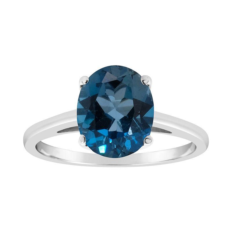 Sterling Silver London Blue Topaz Ring. Women's. Size: 5