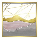 Linden Ave Watercolor Mountains Shadowbox Wall Decor
