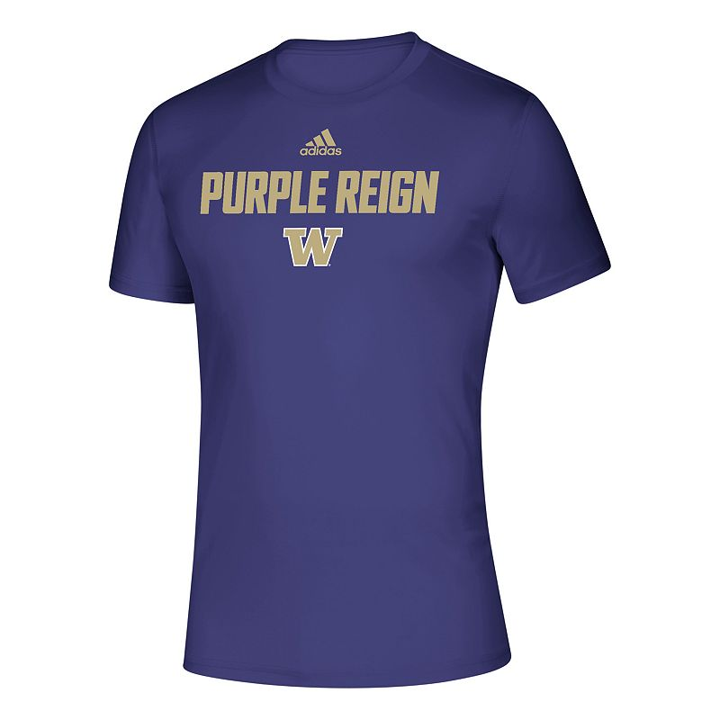 Men's adidas Washington Huskies Slogan Tee, Size: Large, Purple
