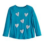 Girls 4-12 SONOMA Goods for Life? Sequined Plush Knit Swing Top