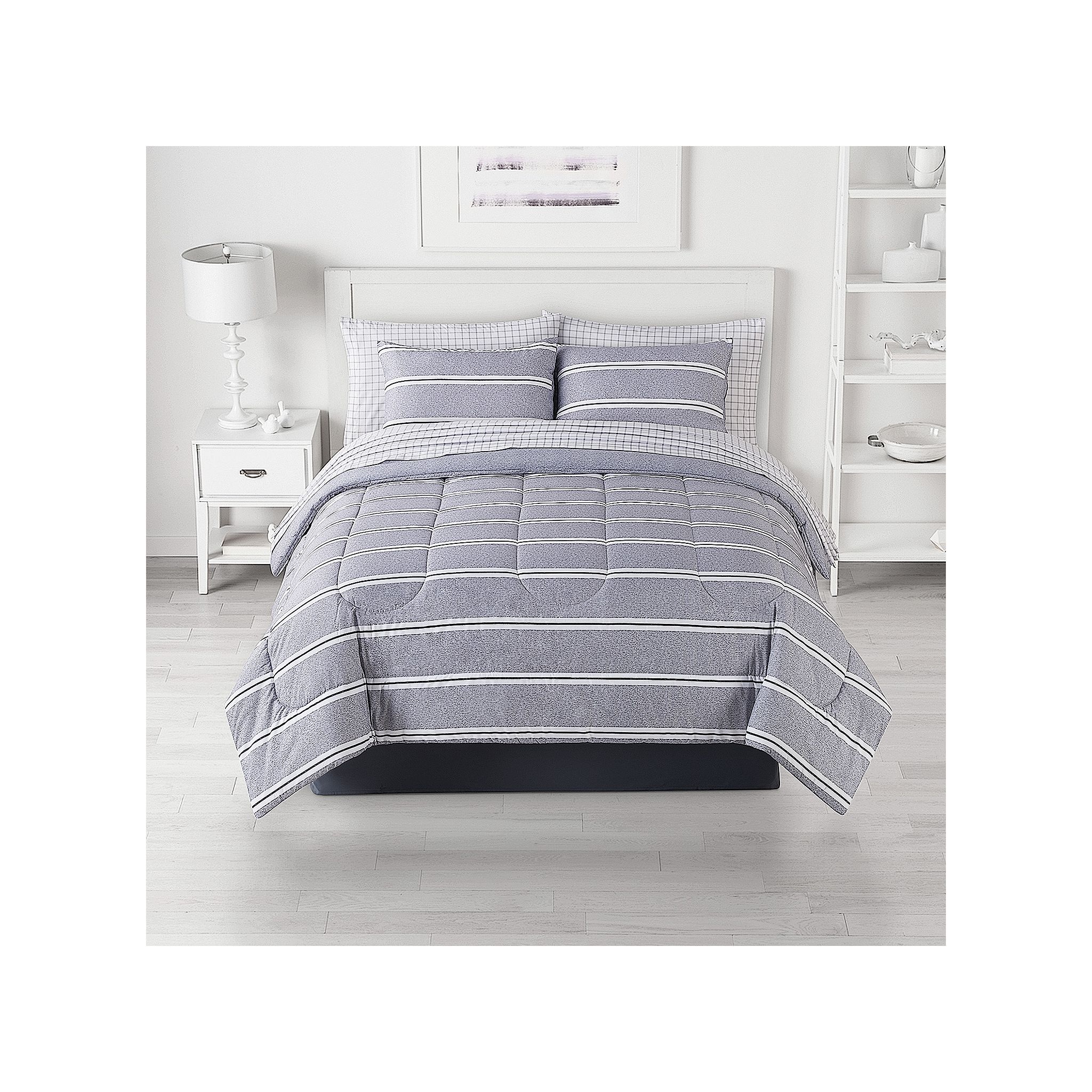 The Big One Peter Stripe 8-Piece Reversible Comforter Set w/ Sheets