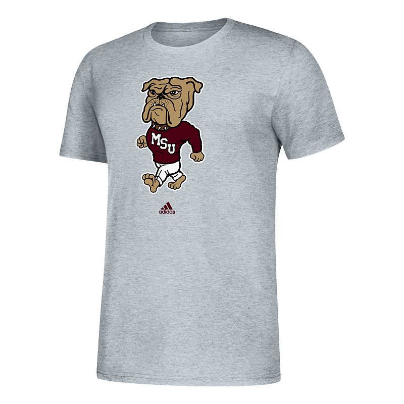 Men's adidas Mississippi State Bulldogs Amplifier Tee, Size: Small, Grey