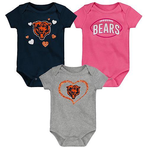 Baby Girls NFL Chicago Bears Champ 3-pack Bodysuit
