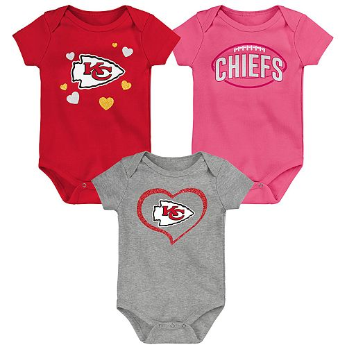 Baby Girls NFL Kansas City Chiefs Champ 3-pack Bodysuit