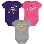 "Girls NFL ""Champ"" Bodysuit (3-Pack)"