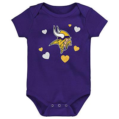 Baby Girls NFL Minnesota Vikings Champ 3-pack Bodysuit
