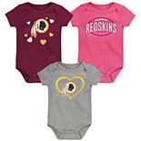 Baby Girls NFL Washington Redskins Champ 3-pack Bodysuit
