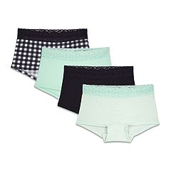 7d03c9630ca Girls 8-18 Fruit of the Loom Comfy Cotton Boy Shorts 4-Pack